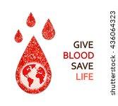 world blood donor day banner... | Shutterstock .eps vector #436064323