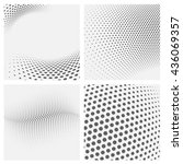 set of dotted abstract forms. | Shutterstock .eps vector #436069357