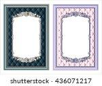 vector vintage border frame... | Shutterstock .eps vector #436071217
