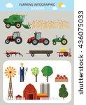 farming infographic elements.... | Shutterstock .eps vector #436075033