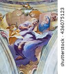 Small photo of BRESCIA, ITALY - MAY 23, 2016: The fresco of st. Luke the Evangelist in cupola of Chiesa di Sant'Afra church by Antonio Mazza (18. cent.)