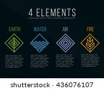 nature 4 elements diamond... | Shutterstock .eps vector #436076107