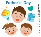 father's day  icon  set | Shutterstock . vector #436077373