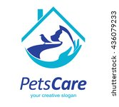 pets care logo | Shutterstock .eps vector #436079233