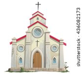 Catholic Church. Vector.