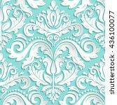 seamless oriental ornament....   Shutterstock .eps vector #436100077