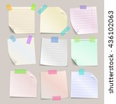 stick note papers vector set.... | Shutterstock .eps vector #436102063