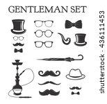 set of vintage gentleman set....   Shutterstock .eps vector #436111453