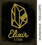 elixir stone logo. vector... | Shutterstock .eps vector #436121893