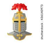 knight helmet. knight armour.... | Shutterstock .eps vector #436140973