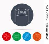finish banner icon. marathon... | Shutterstock . vector #436141147