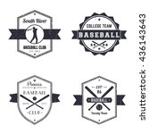 baseball club  team vintage... | Shutterstock .eps vector #436143643