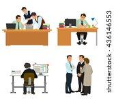 business characters scene.... | Shutterstock .eps vector #436146553