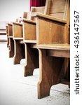 Chair In Church  Wood Pews ...