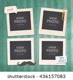 vintage hipster retro stile.... | Shutterstock .eps vector #436157083