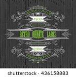 vintage typographic label... | Shutterstock .eps vector #436158883