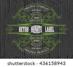 vintage typographic label... | Shutterstock .eps vector #436158943