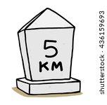 kilometer stone   cartoon... | Shutterstock .eps vector #436159693
