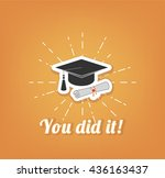 graduation cap and diploma...