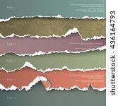 set of design elements colorful ... | Shutterstock .eps vector #436164793
