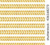 gold seamless pattern. braids... | Shutterstock .eps vector #436168273