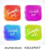 vector elements for labels.... | Shutterstock .eps vector #436169047