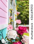 flowers in pastel styles on... | Shutterstock . vector #436169053