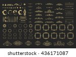 wicker lines and decor elements ... | Shutterstock .eps vector #436171087