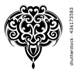 maori ornamental tattoo shape... | Shutterstock .eps vector #436173583