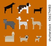 flat dog characters set ... | Shutterstock .eps vector #436174483