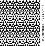 black and white vector.seamless ... | Shutterstock .eps vector #436177447