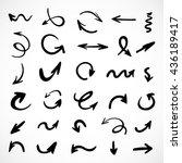 hand drawn arrows  vector set   Shutterstock .eps vector #436189417
