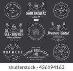 vector beer badges and labels... | Shutterstock .eps vector #436194163