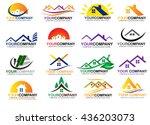 real estate logo set | Shutterstock .eps vector #436203073