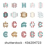 collection of vector... | Shutterstock .eps vector #436204723