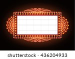 brightly vintage glowing retro... | Shutterstock .eps vector #436204933