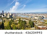 areal view of portland skyline | Shutterstock . vector #436204993