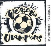 soccer ball grunge graffiti...   Shutterstock .eps vector #436208713