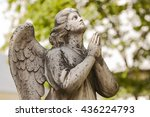 vintage marble angel at the old ... | Shutterstock . vector #436224793