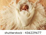 Cute Boy Sleeping In Big Bed
