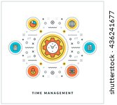 time management. vector thin... | Shutterstock .eps vector #436241677