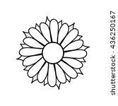 ethnic flower mandala for cards ... | Shutterstock .eps vector #436250167