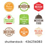 mexican cuisine  authentic... | Shutterstock .eps vector #436256083
