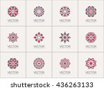 geometric logo template set.... | Shutterstock .eps vector #436263133