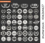 premium quality retro badges... | Shutterstock .eps vector #436264627