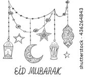 eid mubarak theme. beautiful... | Shutterstock .eps vector #436264843