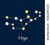 constellation virgo zodiac... | Shutterstock .eps vector #436269223