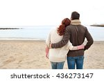 rear view of young tourist... | Shutterstock . vector #436273147