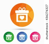 gift box sign icon. present... | Shutterstock .eps vector #436276327