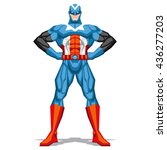 vector superhero posing...